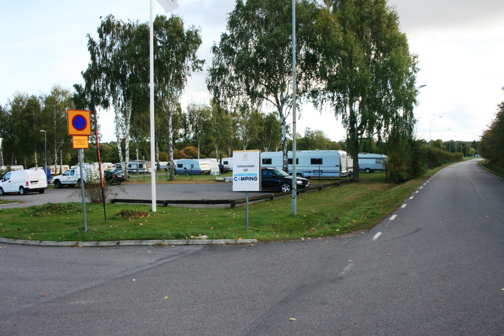 2 - Uppfart till själva Norrköpings camping - Himmelstalunds camping